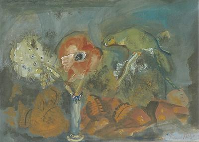 Parrot with Poppy