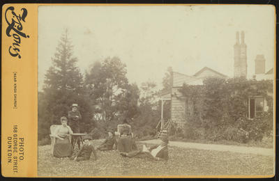 RC2015/4/4/47; Frances Hodgkins with Family at Waira, Ravensbourne