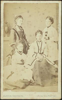 RC2015/4/4/74; The Parker Sisters: Mary, Isabella, Frances Lydia and Rachel