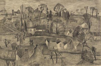 Village Scene, Peaslake