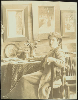 Frances Hodgkins in her Bowen Street Studio, Wellington
