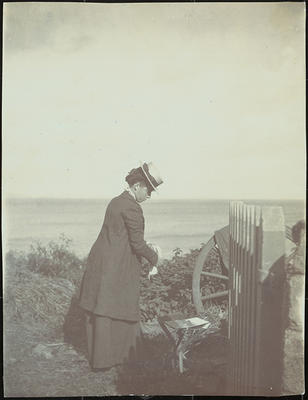 Frances Hodgkins at Mousehole, Cornwall