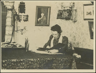 Frances Hodgkins in the Dining Room at Cranmore Lodge, Dunedin