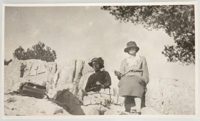Frances Hodgkins (left) and Jean Campbell, Cassis
