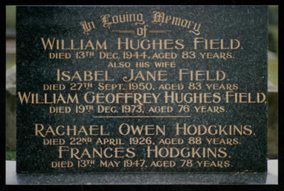 Field/ Hodgkins Headstone