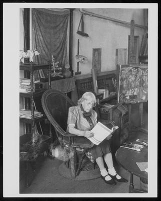 Frances Hodgkins at Corfe Castle