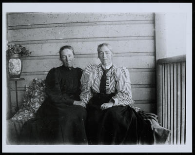 Dorothy Kate Richmond (right) and her Sister, Ann Elizabeth (Alla) Atkinson, Otaki
