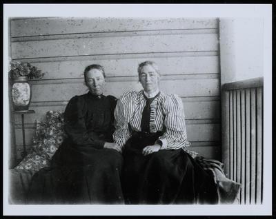 Dorothy Kate Richmond (right) and her Sister, Ann Elizabeth (Alla) Atkinson, Otaki