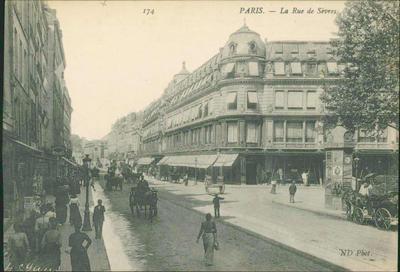 Postcard of Paris - La Rue de Sèvres