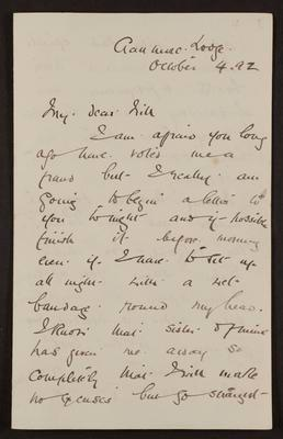 Letter from Frances Hodgkins to William H. Field
