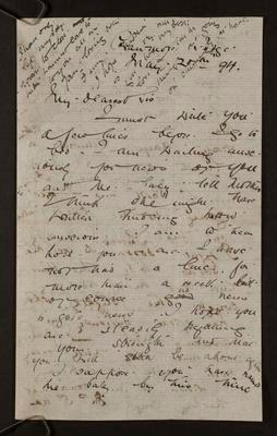 Letter from Frances Hodgkins to Isabel Field