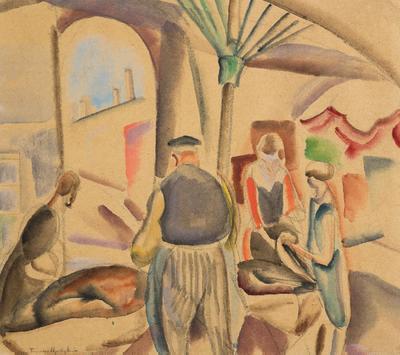 FH0688; A Market Scene (The Market)