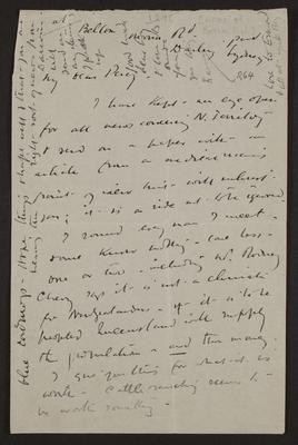 Letter from Frances Hodgkins to Percy Hodgkins