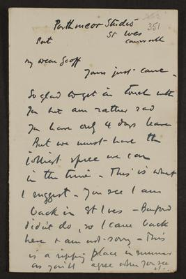 Letter from Frances Hodgkins to Geoff Field