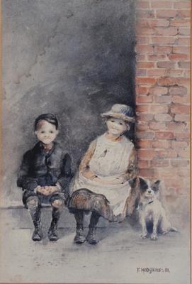 FH0059; Boy, Girl and Dog (Little Models)