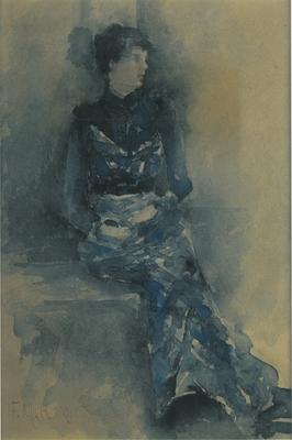 FH0061; Lady in Blue (Isabel Seated)