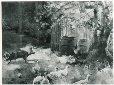 Back-Garden Scene
