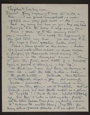Letter from Gertrude Crompton to Frances Hodgkins