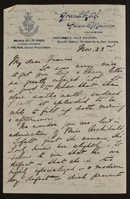 Letter from Bridget
