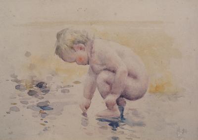 Baby on Beach (Marion Scott)