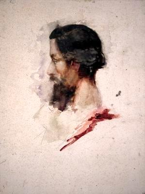 Profile of Bearded Man
