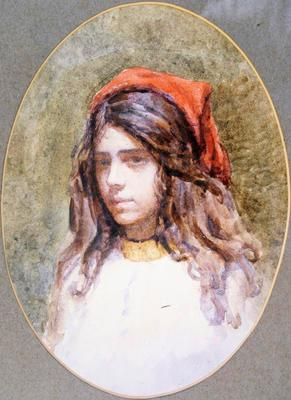 Girl with the Red Scarf