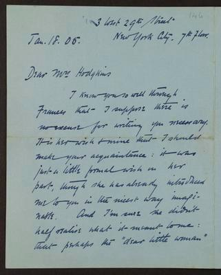 Letter from Thomas Wilby to Rachel Hodgkins