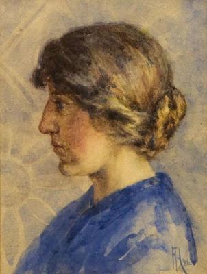 FH0167; Profile Portrait of a Woman (May Kenyon)