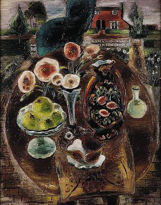 The Pleasure Garden by Frances Hodgkins and the six Hodgkins works in the Collection