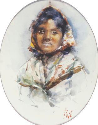 Head of a Maori Girl