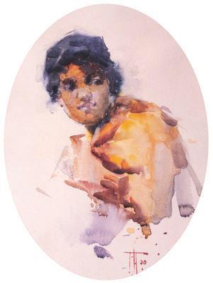 Sketch of Maori Girl