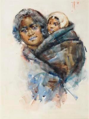 Maori Woman with Child