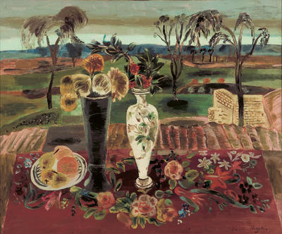 FH0888; Landscape with Still Life