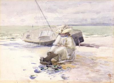 FH0301; Girl on the Beach