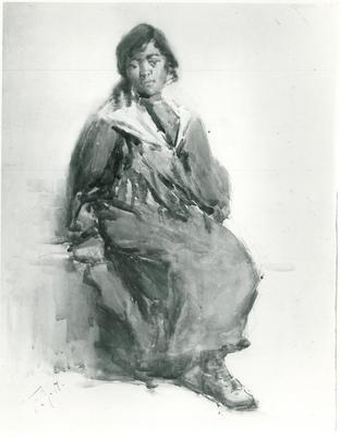 Maori Girl Puketeraki