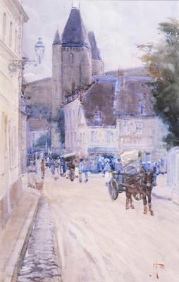 FH0344; Street Scene Les Andeleys
