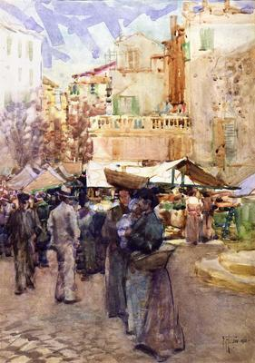 FH0367; The Market Place, San Remo, Italy