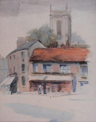 FH0384; Village Street Scene