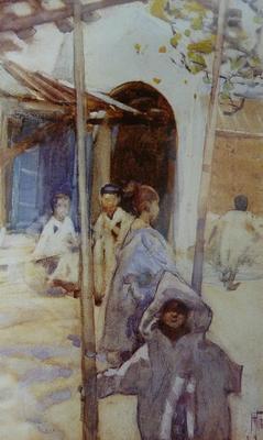 FH0407; Children, Tetuan, Morocco