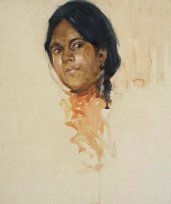 FH0440; Head of Maori Girl