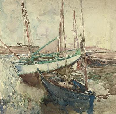 FH0477; Sailing Boats at Low Tide