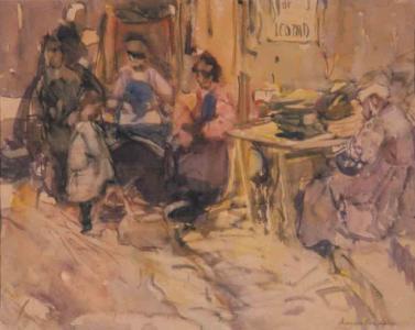 Women in a French Market