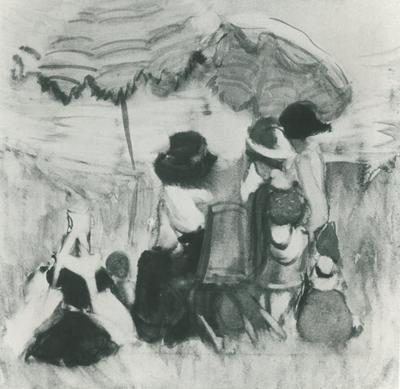 FH0527; The Beach Umbrellas