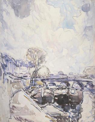 FH0568; Barges on the Seine, Paris
