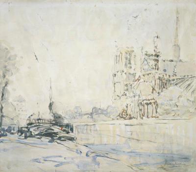 FH0569; Barges on the Seine, Paris