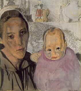 Breton Mother and Child