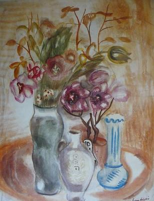 Still Life with Flowers and Vases