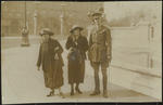 Frances Hodgkins Leaving Buckingham Palace with Niece Lydia and Captain Pharazyn after his Investiture