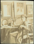 Frances Hodgkins in her Bowen Street Studio, Wellington