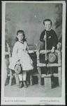 Isabel (or Sis) and William (or Willie) Hodgkins taken in the mid-1870s